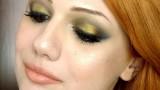 Trucco marrone e oro scuro