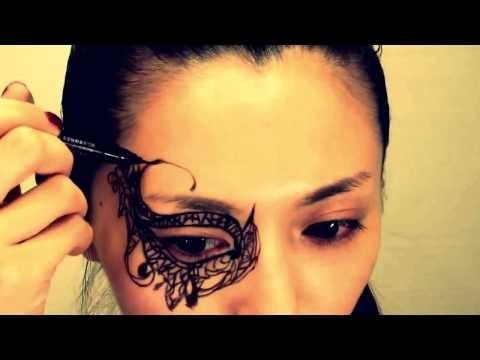Maschera imitazione pizzo stile gotico