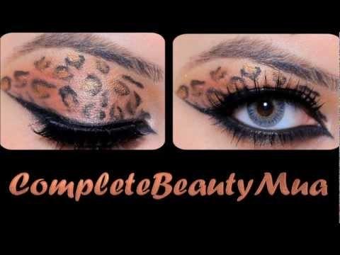 Trucco occhi e unghie stile leopardo
