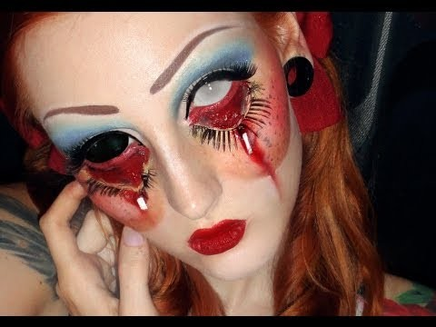 Trucco da bambola assassina per Halloween