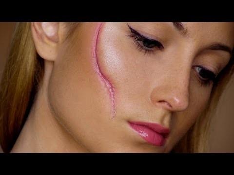 Come fare in pochi minuti una cicatrice finta sul viso