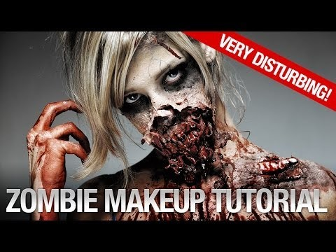 Makeup halloween da zombie insanguinato