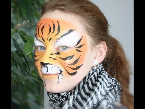 Trucco da tigre facile per bambini