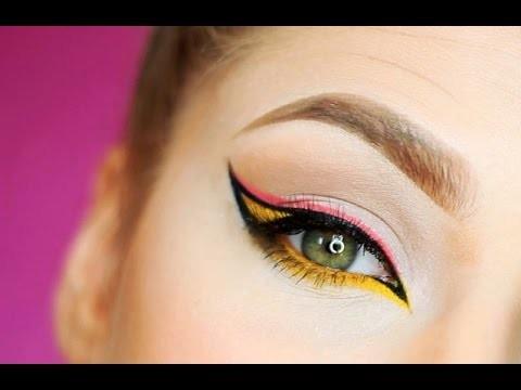 Eyeliner Tutorial rosa, giallo e nero
