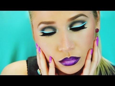 Makeup ombretti neon e eyeliner