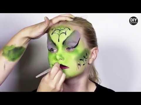 Trucco bambina da strega verde