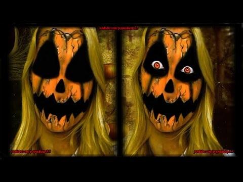 Makeup tutorial da zucca stile horror