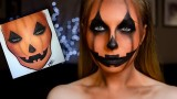 Makeup viso da zucca halloween tutorial