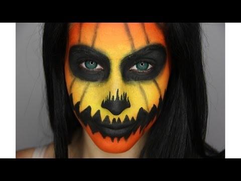 Trucco viso da zucca per Halloween