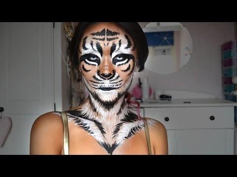 Bellissimo trucco da tigre per carnevale