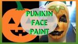 Faccia da zucca facile per trucco Halloween