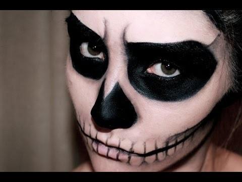 Makeup scheletro facile anche per bambini