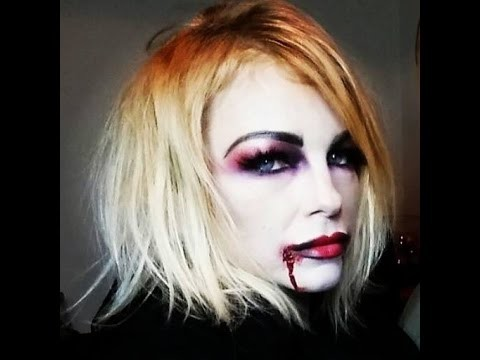 Makeup vampira semplice