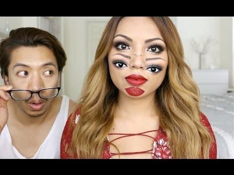 Halloween tutorial con doppi occhi e bocca