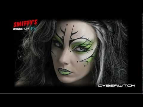 Cyber strega Halloween Make-up Tutorial