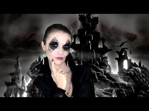 Sexy strega Halloween trucco e vestito