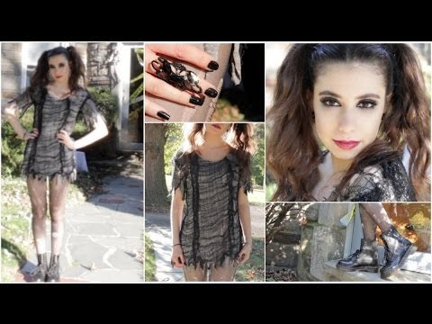 Look da strega per bambina con makeup e costume