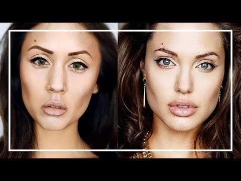Makeup transformation in Angelina Jolie
