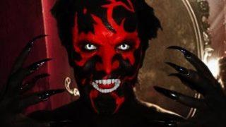 Trucco da demone per Halloween e Carnevale