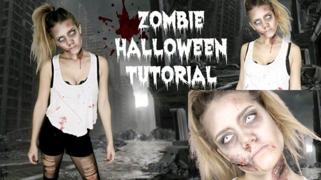 Trucco da zombie e vestito facile last minute