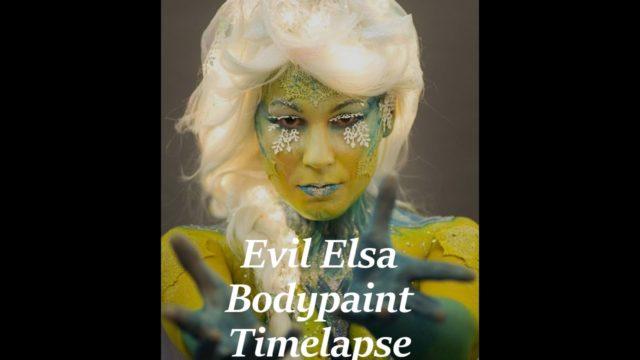 Body Painting trasformazione in diavolessa