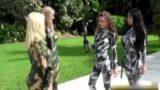 camoffardi da soldato con la Body art